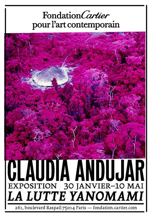 Affiche de l'exposition, la Lutte Yanomami par Claudia Andujar