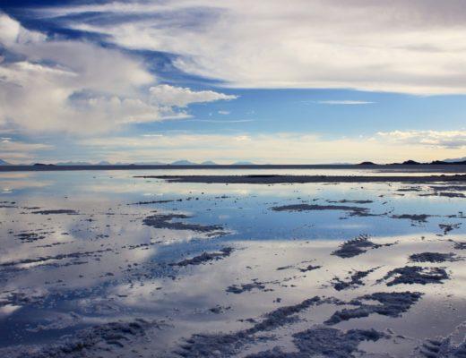Effets miroir Salar d'Uyuni Bolivie