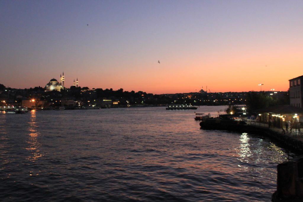 Coucher de soleil, Istanbul, Turquie